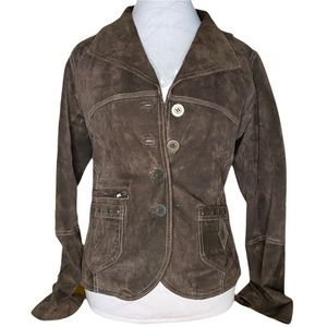 Roper size small 100% leather brown moto jacket